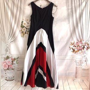 Eshakti Color block sleeveless maxi dress size M